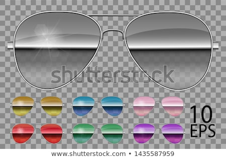 Aviator Unisex Sunglasses, Trendy Vector 3D Shades Stock photo © pikepicture