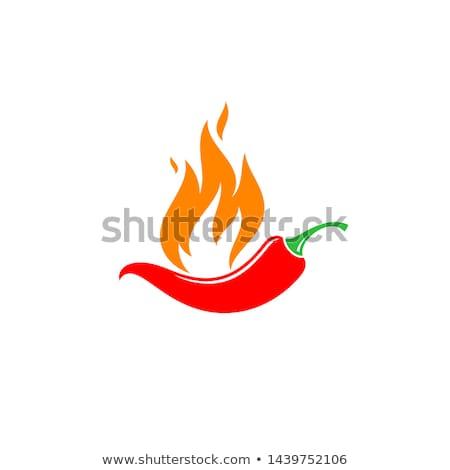 sıcak · yangın · başparmak · yukarı · gülümseme - stok fotoğraf © marysan