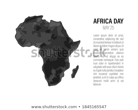 may 25 africa day banner of animal print map stock photo © cienpies