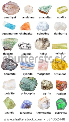 Collection of various minerals Stock photo © grafvision