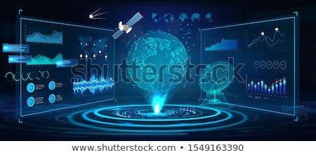 Stock fotó: Antenna · földgömb · fehér · 3d · illusztráció · internet · mobil