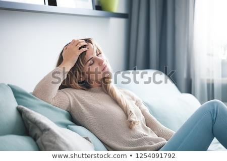 疲れ 女性 小さな 女性 スポーツウェア ストックフォト © pressmaster