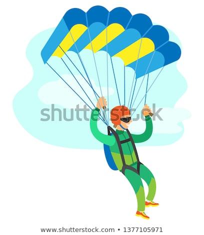 Parachutisme battant vecteur affiche homme Photo stock © robuart