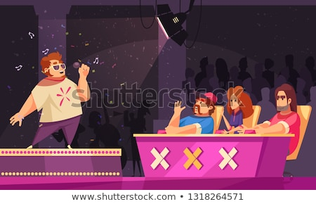 Music Award and People Singing, Singers Contest Stock photo © robuart
