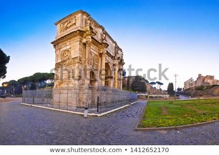 Arch of Constantine square dawn view in Rome stock photo © xbrchx
