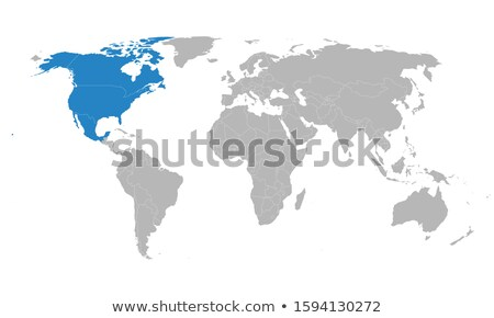World Map of CANADA and NORTH AMERICA REGION: America, Canada, Greenland, Alaska. (Geographic chart) Stock photo © Glasaigh