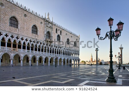 detail of doges palace in venice italy stock photo © boggy
