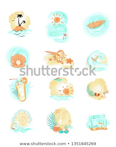 Keep Calm and Have Fun Summer Sea Adventures Set Stock photo © robuart