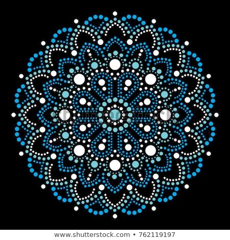 Dot art vector mandala, traditional Aboriginal dot painting design,  decoration  from Australia Stock photo © RedKoala