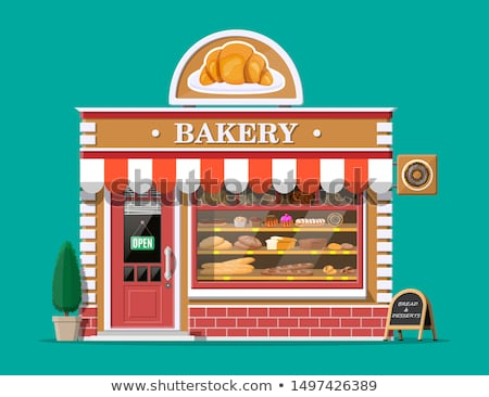 dessert and sweet retail urban bakery cafe vector stock photo © robuart