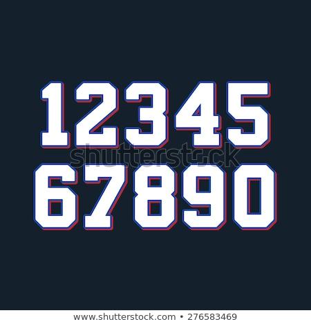 Números fonte esportes numérico geométrico regular Foto stock © FoxysGraphic