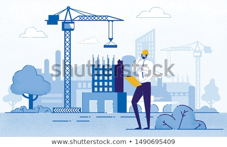 People Working on Constructing New Building Vector Stock photo © robuart