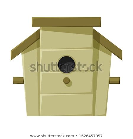 Birdhouse Cartoon Drawing Stock photo © patrimonio