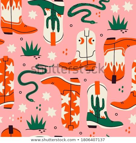 Rodeo Cowboy Cartoon Set Stock photo © patrimonio