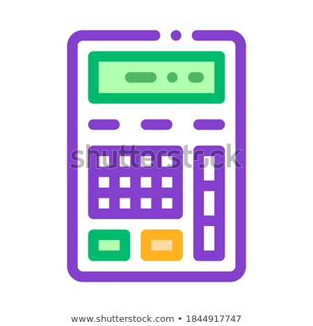 Calculator Financial Electronic Mechanism Vector Stock photo © pikepicture