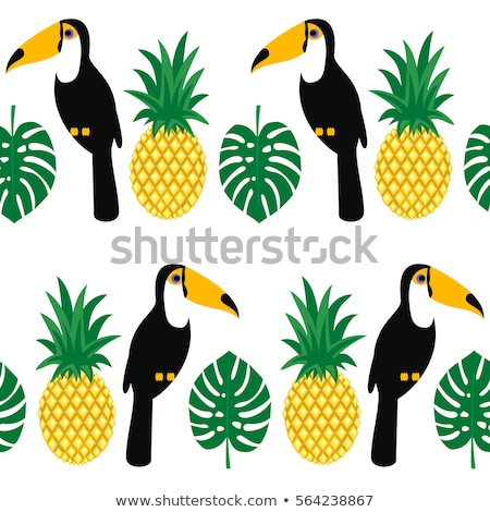 Pineapple Palm Tropical Tree Color Vector Stock photo © pikepicture