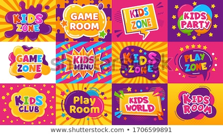 Playroom for kids concept vector illustration Stock photo © RAStudio