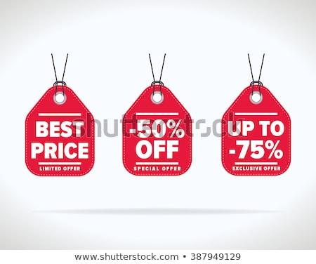 Establecer etiqueta descuento venta prima Foto stock © kup1984