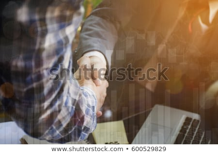 Iş adamları grafikler Stok fotoğraf © Freedomz