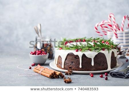 Berry · gâteau · blanche · couleur · pour · aquarelle · illustration · anniversaire - photo stock © dashapetrenko