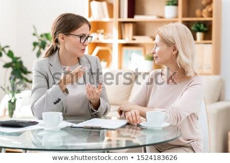 elegancki · tabeli · popołudnie · kawy · herbaty · kwiat - zdjęcia stock © pressmaster