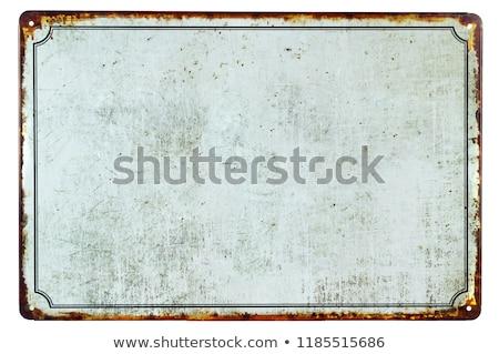 Vazio vintage estanho assinar branco Foto stock © Zerbor