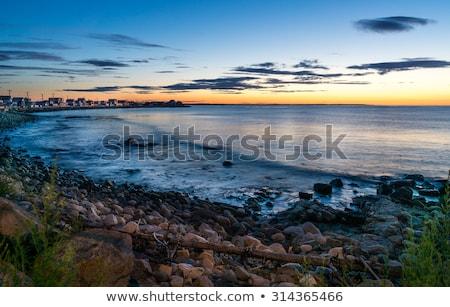 Foto stock: Maine · praia · nascer · do · sol · verão