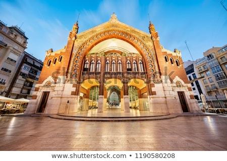 квадратный город зале Валенсия Испания фонтан Сток-фото © borisb17