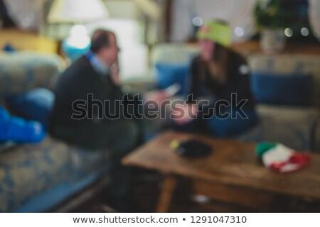 расплывчатый фотография человека камеры микрофона моде Сток-фото © galitskaya