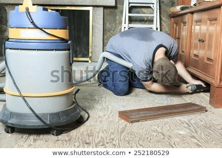 работник вакуум чистой что-то человека мужчин Сток-фото © Lopolo