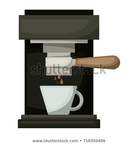 Coffee Maker Machine Front View Color Vector Stock photo © pikepicture