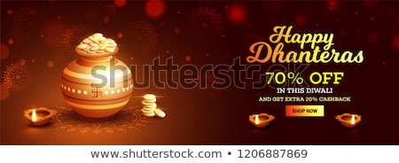 big dhanteras sale festival banner with golden coins Stock photo © SArts