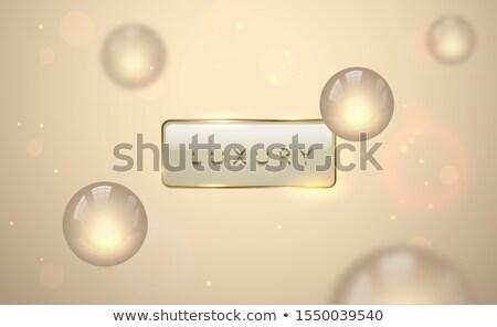 Vector licht luxe banner gouden tekst Stockfoto © Iaroslava