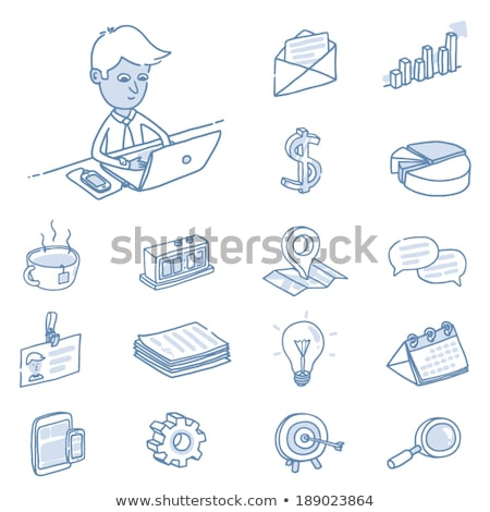 Freehand icons - occupations stock photo © abdulsatarid