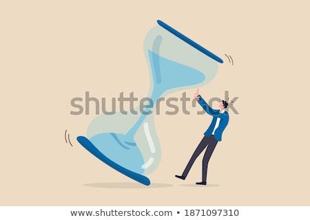 Paniek manager lopen verleden klok moderne Stockfoto © hittoon