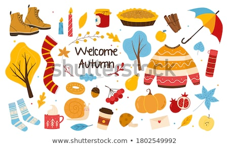 Colorful set of Honey cartoon doodle objects Stock photo © balabolka