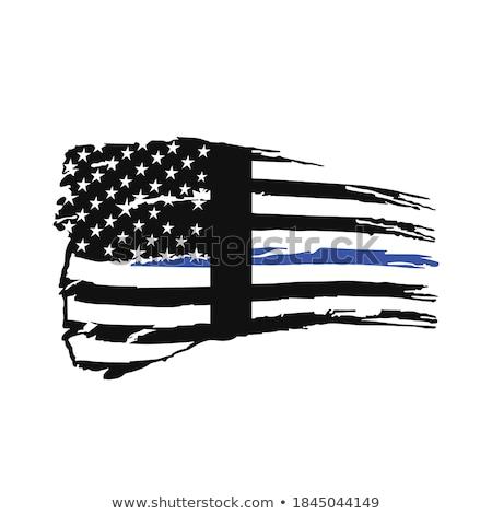 Oregon polis destek bayrak örnek biçim Stok fotoğraf © enterlinedesign