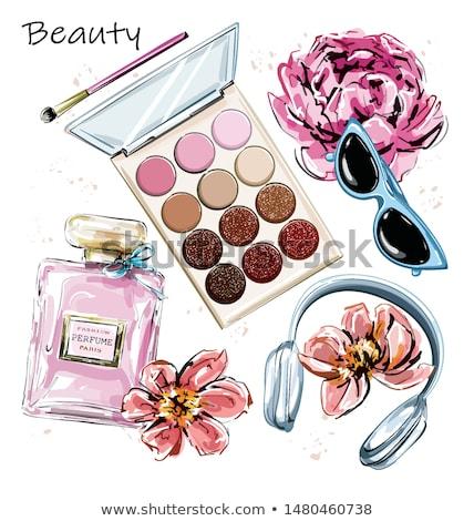 Fles mode parfum grijs oppervlak schoonheid Stockfoto © nomadsoul1