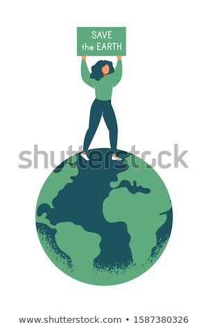 save earth from global warming campaign vector Stock photo © vector1st
