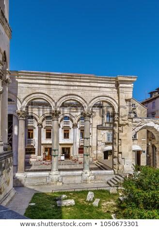 Colonnade of the peristyle square, Split, Croatia Stock photo © borisb17
