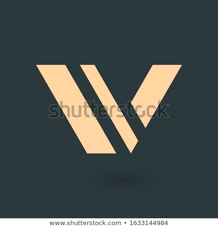 Modern and Simple Two Triangle logo template. Business identity tech element. Stock Vector illustrat Stock photo © kyryloff