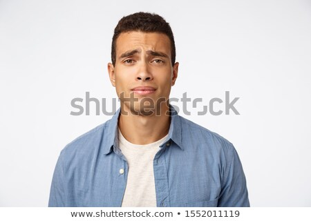 Sceptyczny ponury przystojny mężczyzna zdenerwowany rozczarowany Zdjęcia stock © benzoix