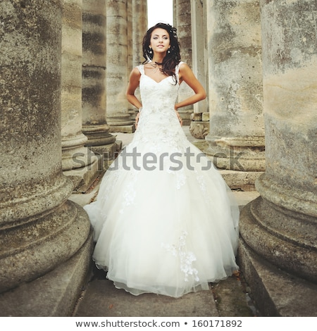 興奮した ウェディングドレス 幸せ 花嫁 テーラー 洋裁 ストックフォト © pressmaster