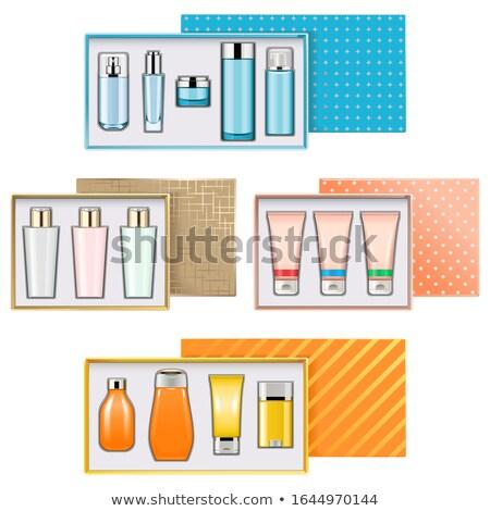 Vektör hediye kutuları parfümeri yalıtılmış beyaz alışveriş Stok fotoğraf © dashadima