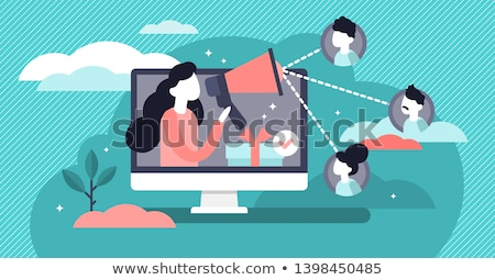 Mensen wisselwerking communicatie abstract vector illustraties Stockfoto © RAStudio