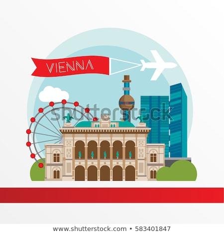 Wenen opera business toerisme mijlpaal afbeelding Stockfoto © ShustrikS