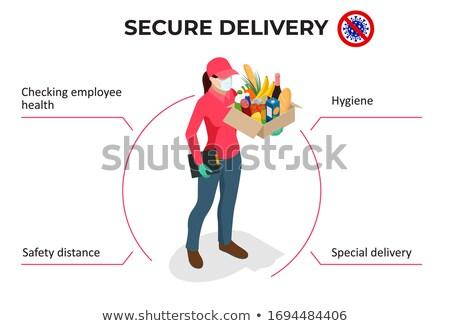 Beveiligde online voedsel levering dienst om Stockfoto © -TAlex-