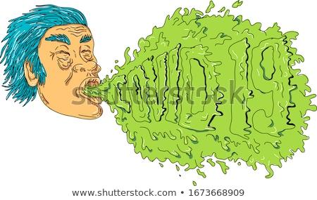 Hombre tos 19 mugre arte estilo Foto stock © patrimonio