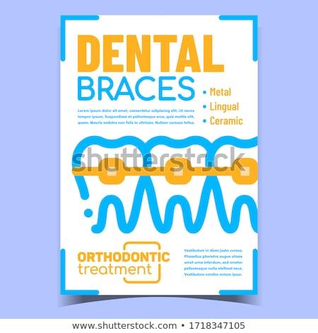 Orthodontische creatieve reclame banner vector behandeling Stockfoto © pikepicture