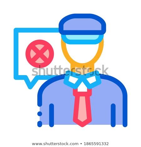 полицейский отказ икона вектора иллюстрация Сток-фото © pikepicture